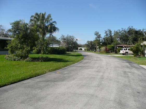 One of many quiet streets in our development.