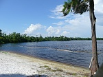 A partial view of the 50-acre lake and beachfront in our development.