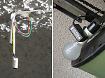 Parking aid using laser diode