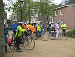Our cycling group in Leiden, Holland 4-27-09