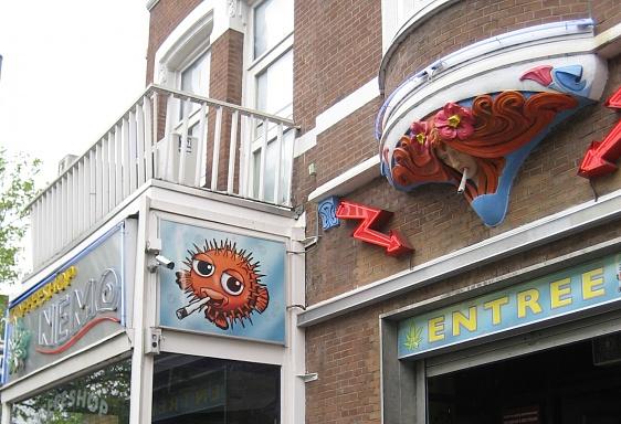"""Coffee """"shop"""" in Rotterdam...puff puff! 4-28-09"""