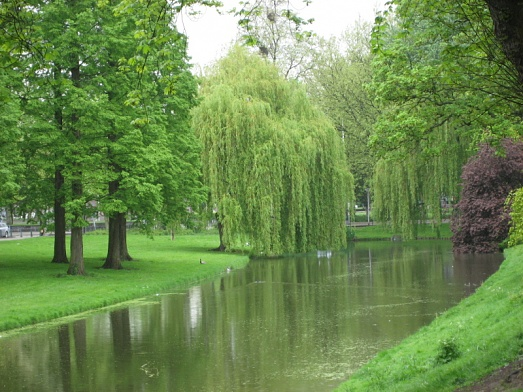 Beautiful canal in Rotterdam, Holland  4-28-09