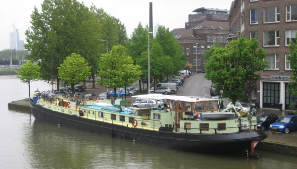 "Our floating hotel ""barge"", the Feniks, Rotterdam Holland, 4-28-09"