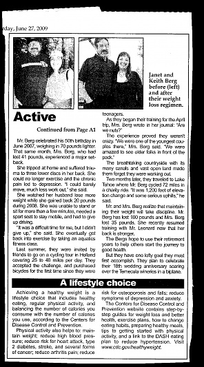 Our Story in the local paper, page 2