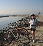 Oct '08, I rode triumphantly to the beach.  22 miles