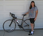 July 27, 2009 - I am LOVING my new bike:  '09 Fuji CCR3, carbon fiber.