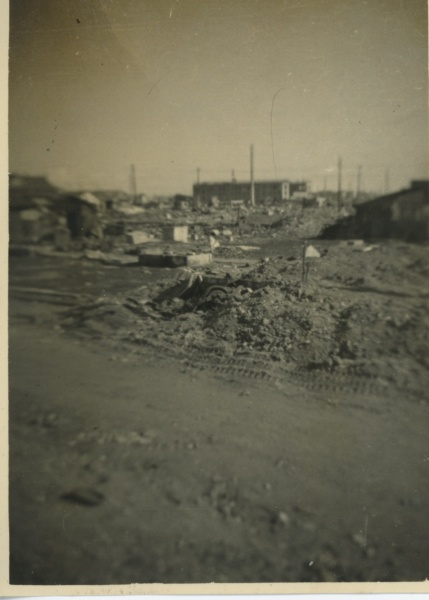 Tokyo rubble. There are also photos of Hiroshima, but I can't find them now.