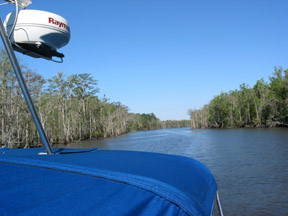 ICW Apalachacola and our trusty Raymarine radar.