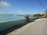 Enjoying the beautiful town of Staniel Cay in the Exumas islands.