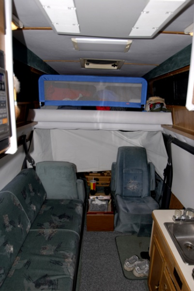 Interior shot showing front half of the GyrFalcon