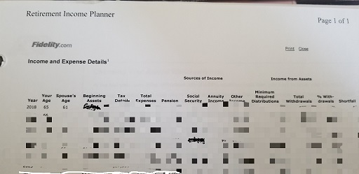 Fidelity Income Planner
