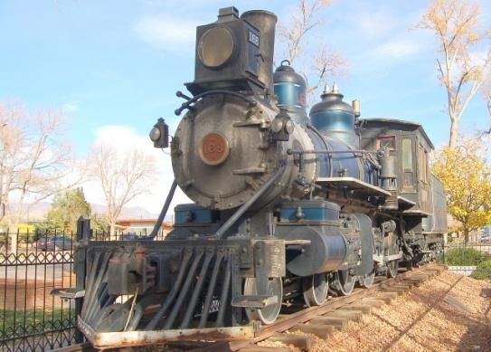 D&RG 168, on display in Colorado Springs
