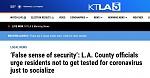 2020 11 17 LA Times Headline
