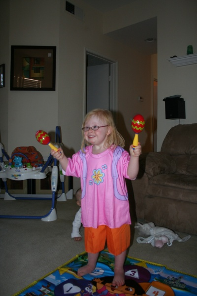 Tori loves Dora the Explorer