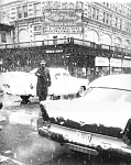 February 1962 - Point Control officer in the snow!