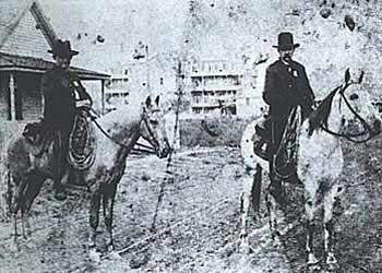 On patrol near downtown - Circa 1885