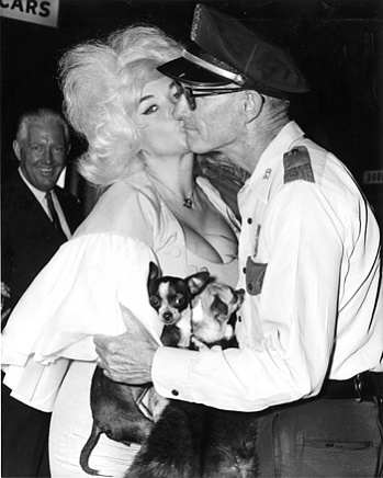 July 1963 Officer Convar stealing a kiss from Jayne Manesfield