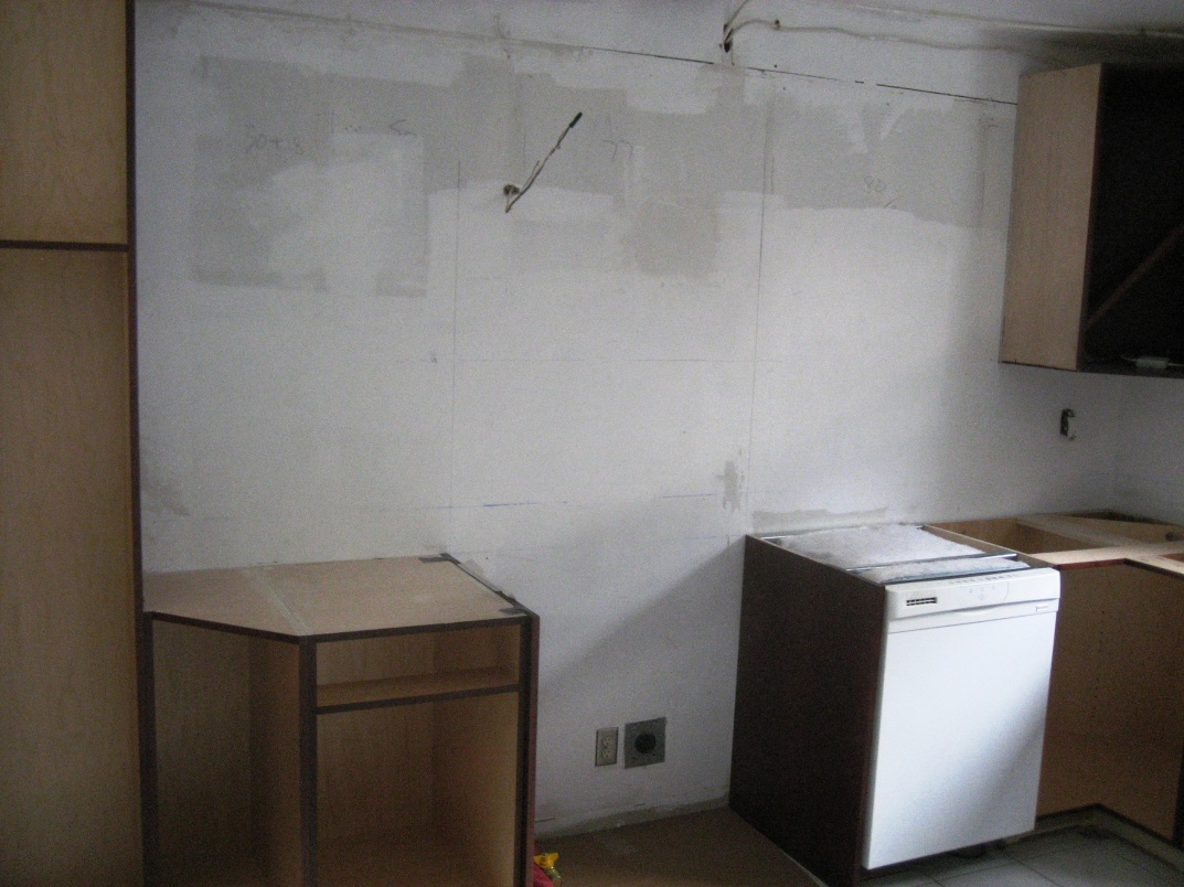 Installing cabinets Left View