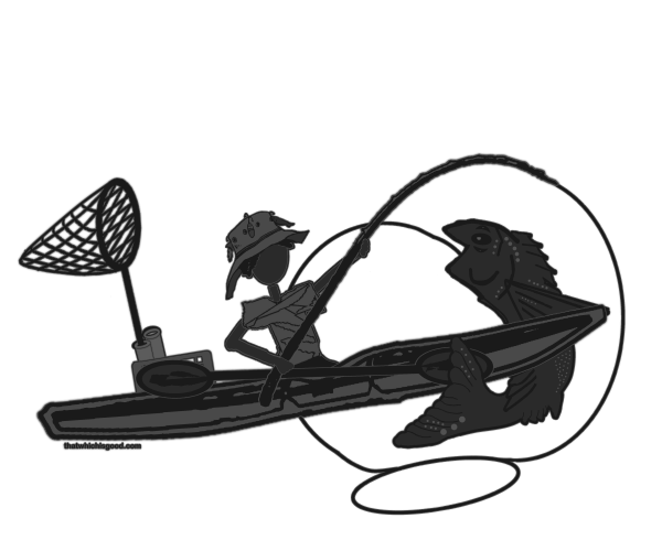 Kayak Fishing  Silhoutte 04132014 PNG